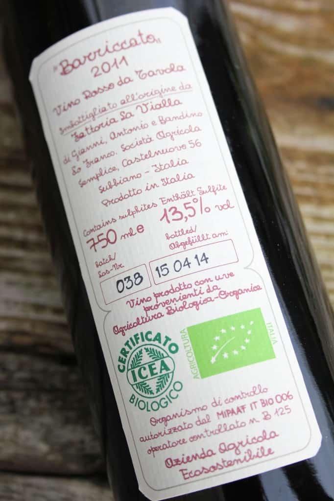 Fattoria la Vialla wijn etikette