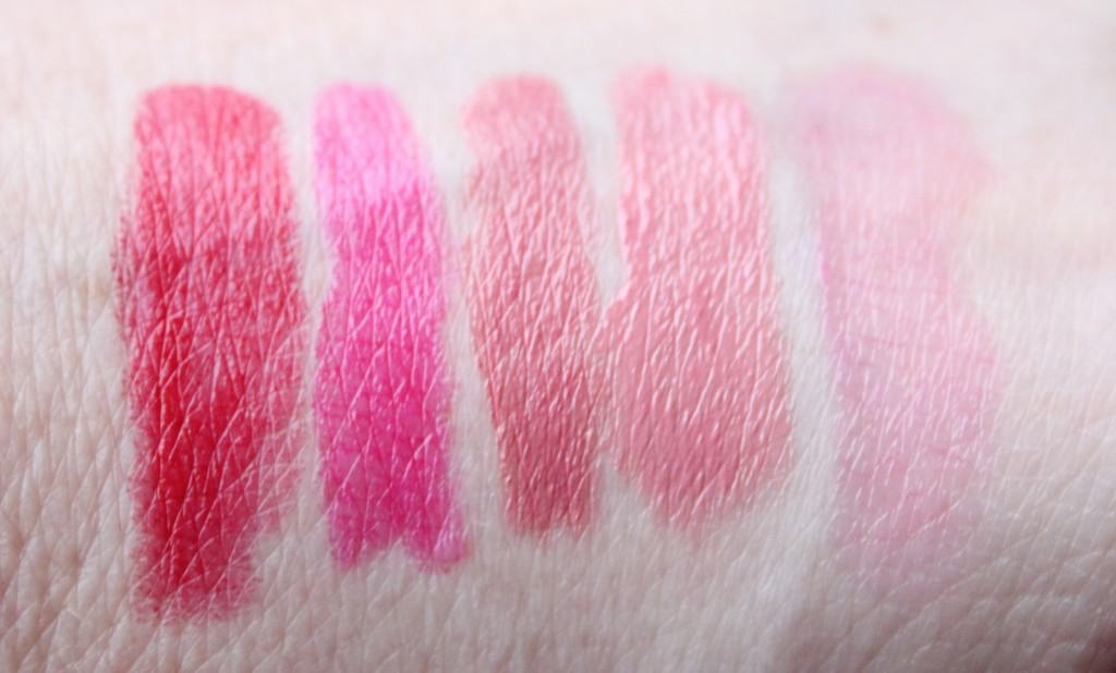 favoriete lipsticks swatches