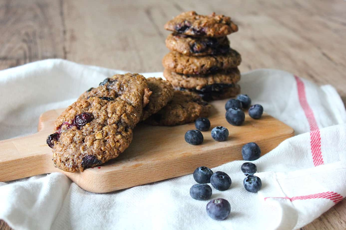 Blauwe bessen havermout koekjes